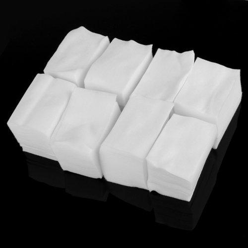 900 Algodón Celuloso Toallitas Limpiador Uñas Blanco Manicura