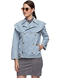 Rheson by Sonam & Rhea Kapoor Women's Mom'S Denim Jacket