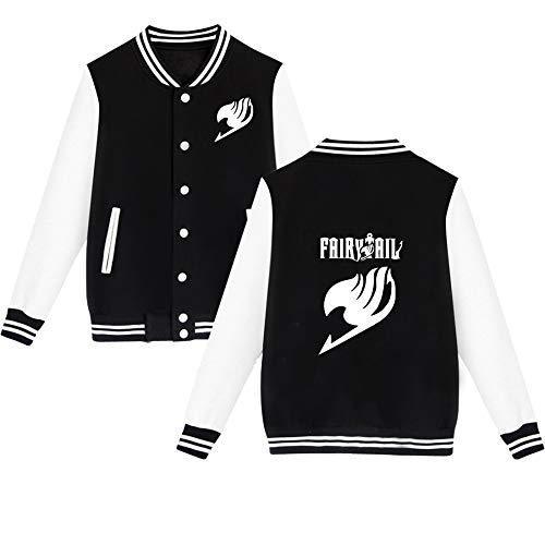 HOOMOLO Unisex Fairy Tail Baseball Jacket Beiläufige Aufdruck -