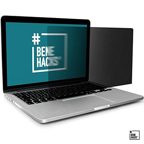 #benehacks® Sichtschutz für Laptop - Blickschutzfolie - Privacy Filter Monitor - Anti spy Screen - 15.6'W Display (Bildschirmgröße 345 x 194 mm)