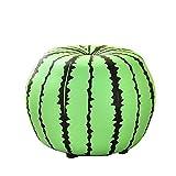 YUMEIGE Hocker Hocker Cartoon-Stil, Holz + Leder,Trittschemel für Kinder Verwendet In Wohnzimmer Schlafzimmer Kinderzimmer, Schemel, Schemel Last 100 Kg (Color : Watermelon)