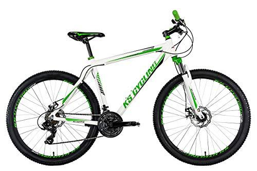 "KS Cycling Herren Mountainbike Compound 27,5\"" weiß-grün RH 51 cm"