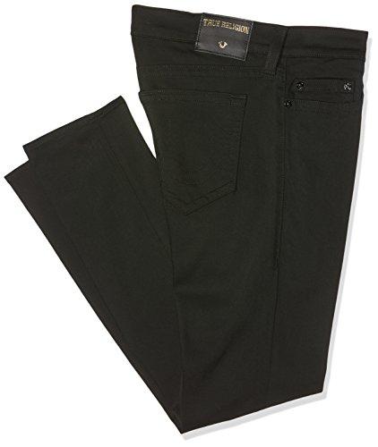 True Religion Herren Jeans mit Schmaler Passform (Slim) Rocco Black (Nightfall)