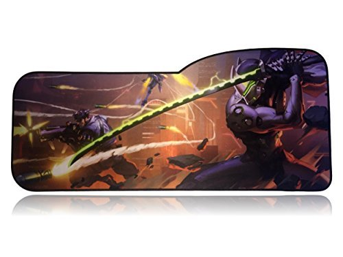 Extended Size Custom Gaming Mouse Pad - Anti Slip Rubber - Stitched Edges - Large Desk Mat - 28.5' x 12.75' x 0.12' (Overwatch Genji)