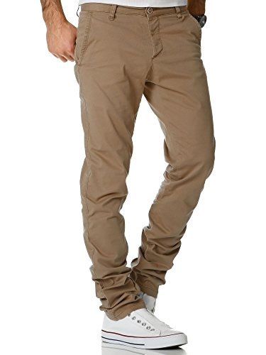 Amaci&Sons Herren Regular Slim Strech Chino Hose Fit 7009-10 Beige