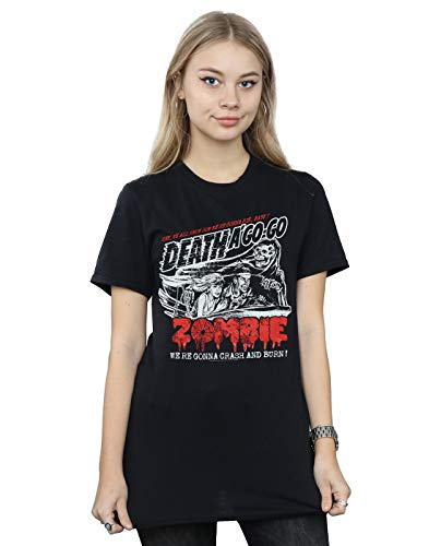 Rob Zombie Damen Zombie Crash Boyfriend Fit T-Shirt Schwarz XXX-Large (Zombie T-shirts Der Band)