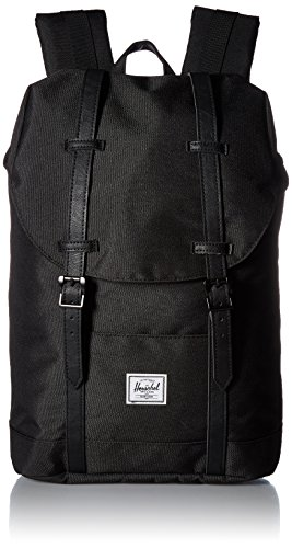 Herschel 10329 - Mochila Casual Adulto Unisex, Black/Black Synthetic Leather (Negro) - 10329-00535-OS