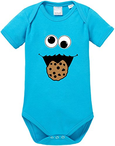 EZYshirt Cookie Monster Baby Body Shortsleeve Bio Baumwolle