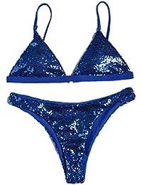 Gladdon Les Femmes Bandeau Bandage Ensemble Bikini Push-Up Maillots de Bain  Maillot de Bain brésilien Beachwear… c4c18c17d2c