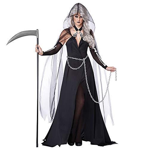 Halloween Hexe Kostüm Vampir Weiblich Geist Dämon Geist Mantel Kostüm Hexe Kostüm Tod Uniform Party Kostüm