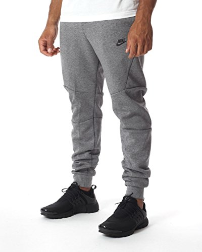 Nike Herren Tech Fleece Trainingshose, Carbon Heather/Cool Grey/Black, M (Fleece Herren Trainingshose)