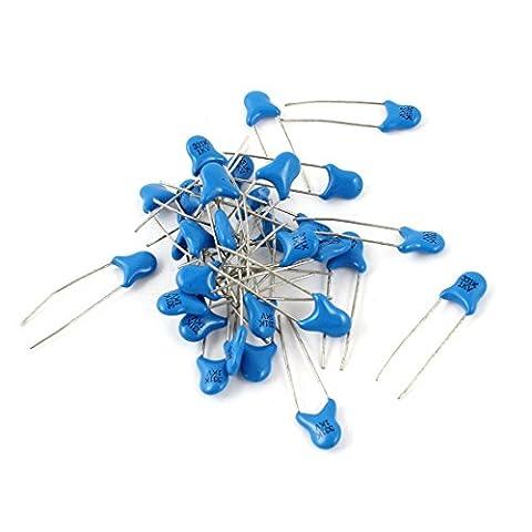 sourcingmap® 30 Stücke 331F Radial Blei DIP Keramik Kondensatoren Capacitor 1000V blau
