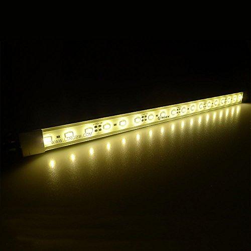 LTRGBW SMD 5730 2800K-3200K 12V DC 18LEDs 7.2W warme weiße super helle Aquarium LED-Streifen-Licht - Wasserdichte -Flut-Licht-Stab-Aluminium Kabinett LED-Linear-Beleuchtung - LED Anlage wachsen Lichter im Freien Lampen (30cm) (Wachsen Licht-lampe)