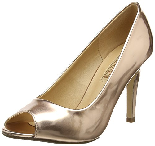 Buffalo Shoes 314669 HM 333, Damen Peep-Toe Pumps, Beige (CHAMPAGNE 01), 38 EU