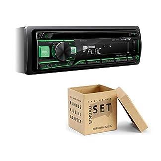 Alpine-CDE-201R-1-DIN-Autoradio-CD-USB-AUX-fr-Audi-A2-8Z-ab-1999-schwarz-kein-Bose