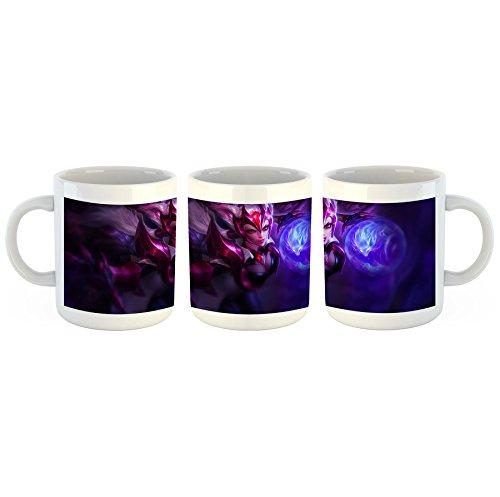 Unified Distribution League of Legends - Ahri - Tasse mit Motiv Bedruckt, 300ml C-Henkel. Tolles Geschenk für Büro, Küche, Geburtstag, Lieblingstasse zum Frühstück