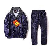 Vestiti da pioggia AINUO Abbigliamento Casual Impermeabili Impermeabili e Impermeabili Traspiranti Uomini e Donne Impermeabili abbinati al Cavallo (Color : Blue, Dimensione : L)