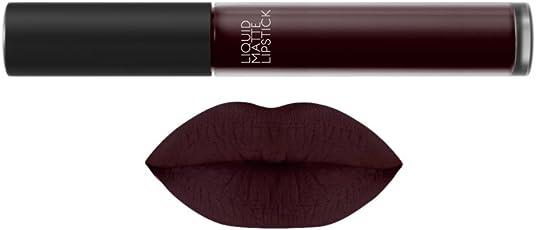 Jeffy deep Brown Lipstick with burgundy hues(6 ml, brown)