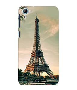 Fuson 3D Printed Eiffel Tower Designer Back Case Cover for HTC Desire 826 - D749