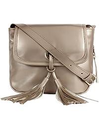 Anekaant Knot-Front Tassel PU Sling Bag
