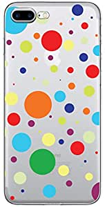 URBAN KOLOURS Original Designer Printed Clear Case Back Cover for Apple iPhone 7 Plus (Dots-Clear)