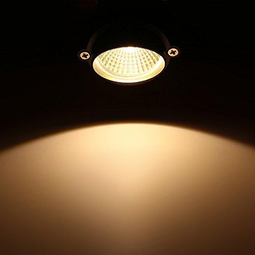 Debeme COB LED Rasenlampe 3 x LED 1 W Rasen Garten Lumi Hochwasser Garten Patio Wegleuchte Projektor Lampe mit Basis imperm verstellbar Warmweiß AC 85 - 265 V - Basis-projektor-lampe