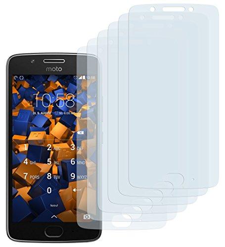 mumbi Schutzfolie kompatibel mit Lenovo Moto G5 Folie klar, Bildschirmschutzfolie (6x)