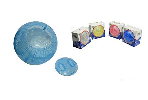 DZL – Boule plastique d'exercice pour hamsters, de 12 cm, en vert, violet, bleu et rose, couleur livrée au hasard