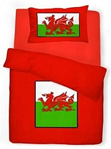 ShawsDirect Wales Welsh Dragon Duvet / Quilt Cover Set