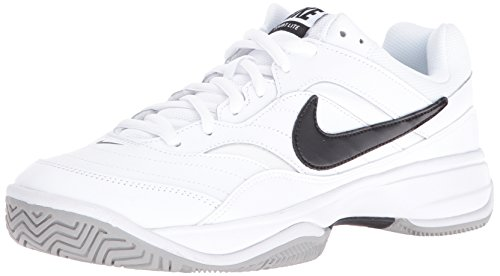 Nike Court Lite Scarpe da Tennis Uomo, Bianco (White/Black/Medium Grey 100) 45 EU