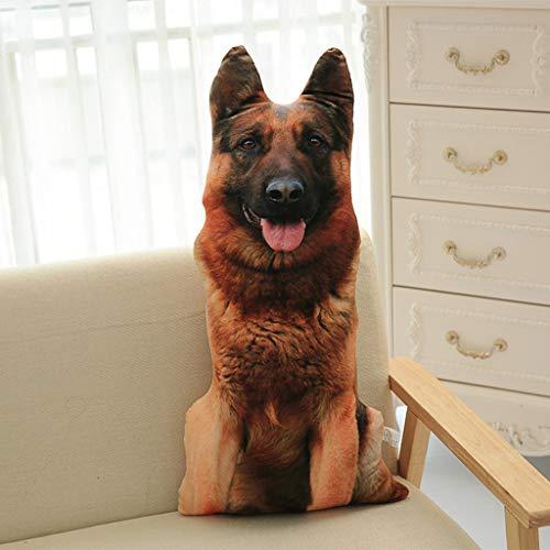 hahuha  Lustige 3D Hundedruck Dekokissen Kreative Kissen Niedlichen Plüsch Puppe Geschenk Wohnkultur (C)