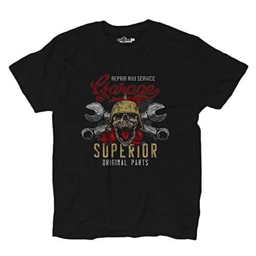 KiarenzaFD Rider Totenkopf Custom Gladiator Motori Auto Skull Old School T-Shirt, KTS02271-XXL-black, schwarz, XXL (Xxl T-shirts Harley Herren Davidson)