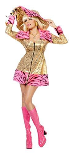 Kostüm Pimp Dame Pimpette Karneval Gangsterbraut Show Damenkostüm Größe (Kostüme Kinder Pimp)