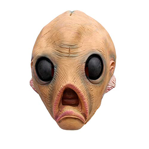 SKays Masken Maske Halloween Horror Cosplay Alien Beängstigend BeleuchtungScream Scary Costume Leuchtenden Draht Grimasse Leuchtmaske Fest Karneval Christmas Party Kostüm Horror Kinder (Kinder Beängstigend Alien Kostüm)