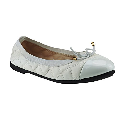 Fashion4Young , Ballerines pour femme Pink Multicolor 36 Weiß