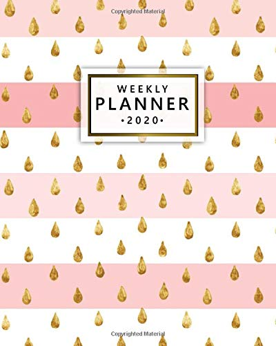 2020 Weekly Planner: Monthly Weekly Daily Views with To-Do's, Funny Holidays & Inspirational Quotes, Vision Boards, Notes & More | 2020 Organizer, Agenda & Diary | Cute Pink Line & Golden Glitter Glitter Line