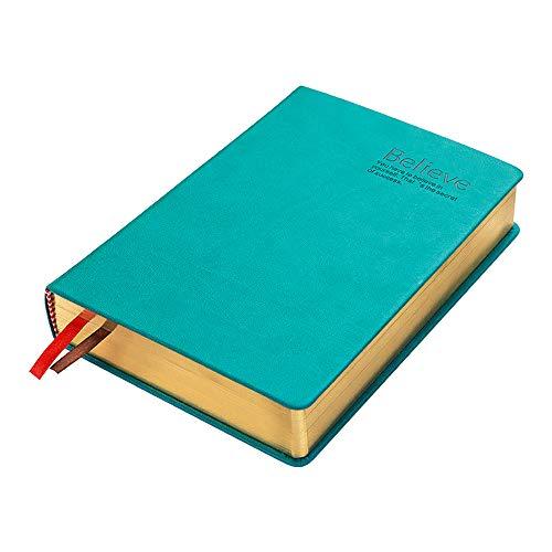 ZUEN Leder-Retro-Notizblock, A5 Classic Lined Journal 300Page Leerseite verdickt Tagebuch-Notizbücher und Tagebücher Aktionstag,Green -