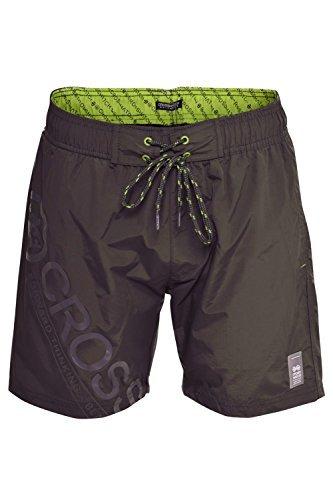 Herren Crosshatch Pazifik Designer Netzfutter Schwimm Shorts - Magnet, XL