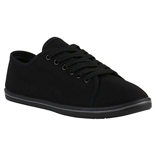 Damen Herren Slipper Sneaker Stoffschuhe Turnschuhe Sommer in mehreren  Farben 36-45 Schwarz Grau