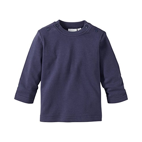 BORNINO Shirt langarm Baby-Top Babykleidung, Größe 62/68, blau