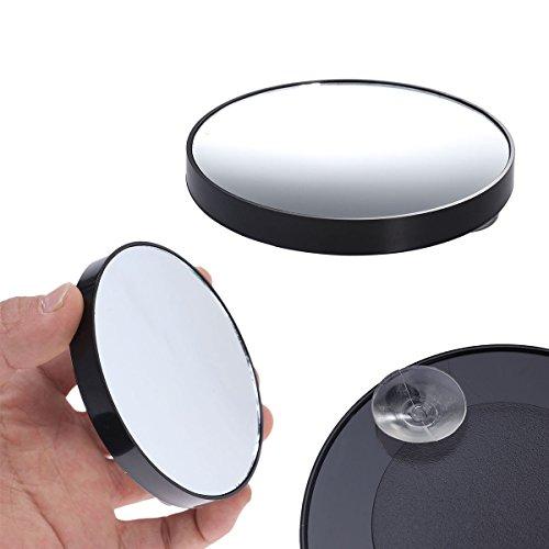 KAIMENG Espejo maquillarse Aumento 15x Espejo forma