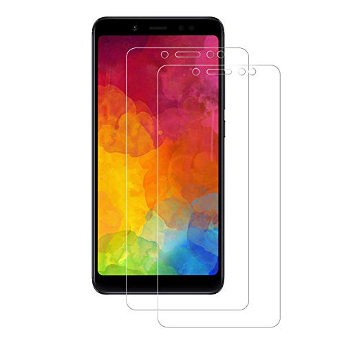 2-Unidades Cristal Templado Xiaomi Redmi Note 5, POOPHUNS Protector de Pantalla Cristal Vidrio Templado Premium para Redmi Note 5, 9H Dureza Alta Sensible, Alta Definición, Sin Burbujas No se despega