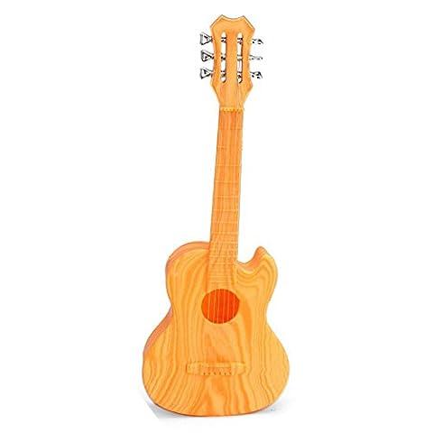 Forfar 4 Strings Musical Spielzeug aus Plastik Ukulele Kleiner britischer Stil Kindergitarre gelb (Hawaiianische Ananas)