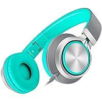 AILIHEN C8 Leggero Cuffie con Microfono e Controllo del Volume su un orecchio Pieghevole Cuffia per iPhone iPad iPod Android Smartphones PC portatile Mac Mp3 Tablet / mp4(Grigio / Mint)