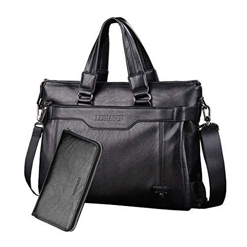 Weiche Aktentaschen (LXIANGP Handtasche Schultertasche der Männer Diagonale Computertasche Aktentasche Weiches Leder Wasserdichte Multifunktions Große Kapazität Geeignet für Arbeitsreisen 40cm*28cm*13 cm (Farbe : C))