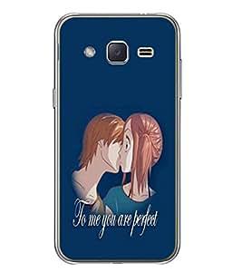 PrintVisa Designer Back Case Cover for Samsung Galaxy J2 J200G (2015) :: Samsung Galaxy J2 Duos (2015) :: Samsung Galaxy J2 J200F J200Y J200H J200Gu (To Me You Are Perfect Design)