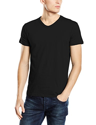 Stedman Apparel Herren T-Shirt Ben (V-neck)/st9010 Premium Schwarz - Black Opal