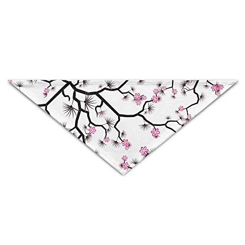 Pink Camo Bib (Gxdchfj Pet Triangle Banna Pink Floral Blossom Art Washable Dog Puppy Scarf Bib Babys Neckerchief Accessories)