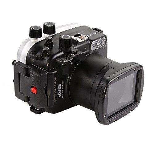Fotga 40M / 130ft Wasserdichtes Gehäuse Tauch Harte Fall Abdeckung für Canon EOS M3 mit 18-55mm Objektiv Ikelite Port