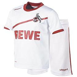 uhlsport Kinder 1. Fc Köln Heim Minikit, weiß/rot, 92/98